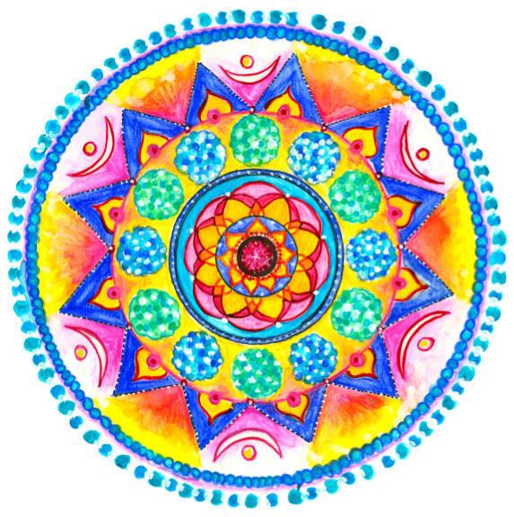 Mandala-Aufkleber